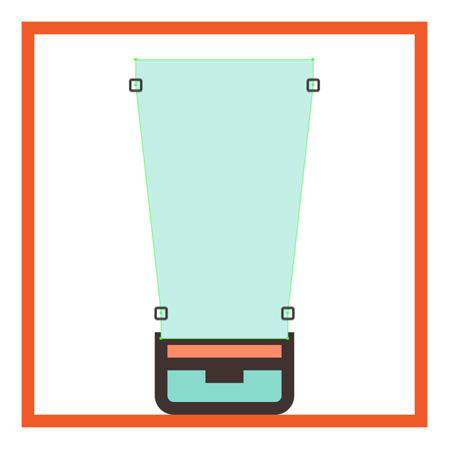 uniting the sun cream bottles composing rectangles into a single larger shape