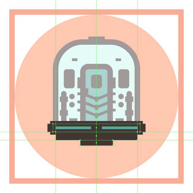 adding the horizontal detail rectangles to the trains bottom section