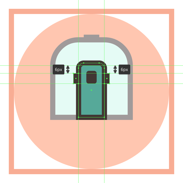 adding the rectangular side insertions to the trains door