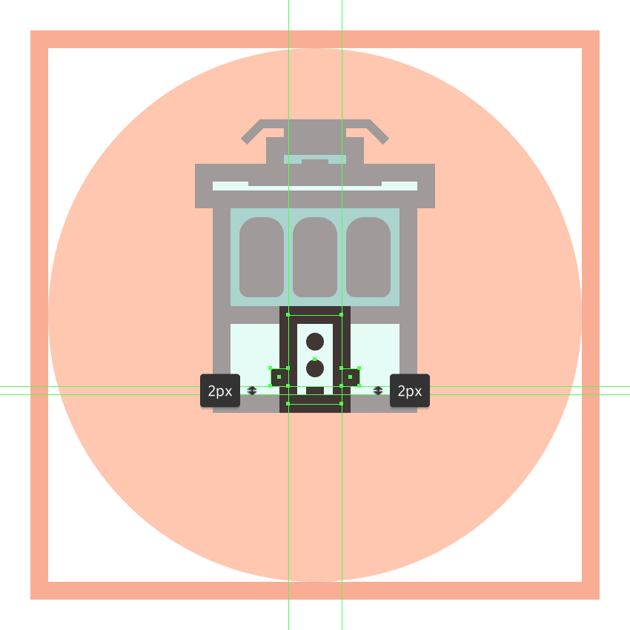 adding the rectangular side insertions to the trams bottom section