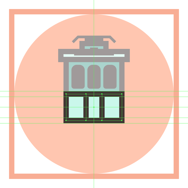 adding the smaller center section to the trams bottom section