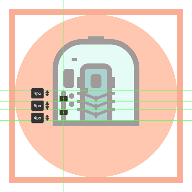 adding the two rectangles to the trains left bumper