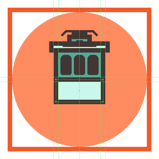 creating and positioning the main shapes for the trams bottom section