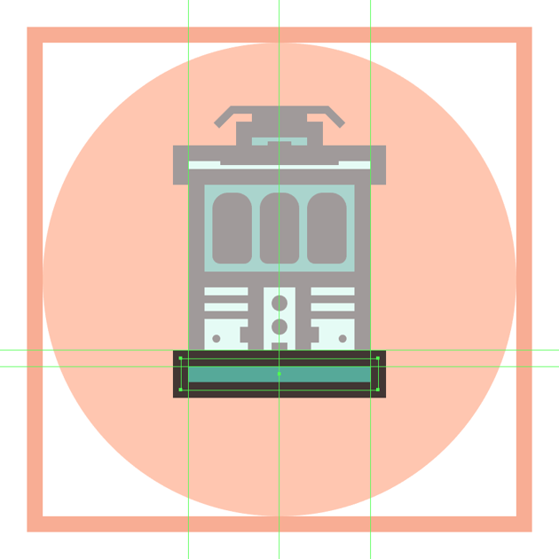 creating and positioning the main shapes for the trams front bumper