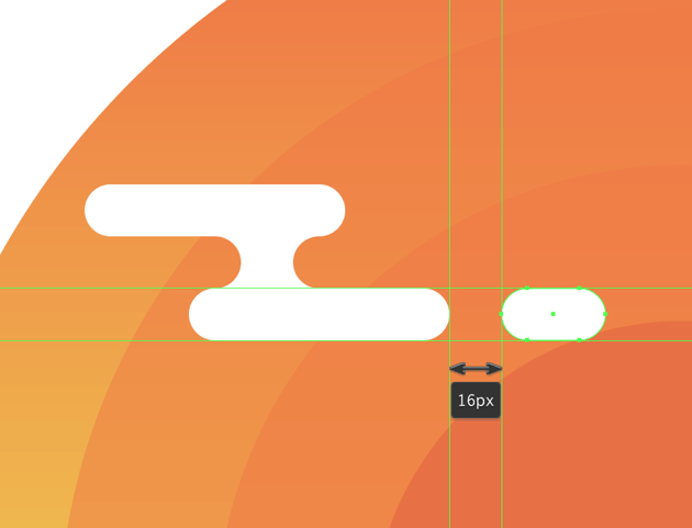 adding the side segment to the illustrations first cloud group
