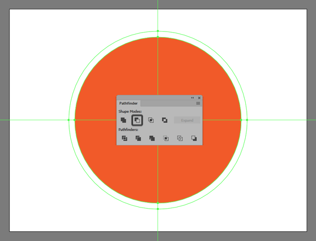 creating and positioning the main shapes for the illustrations circular highlight