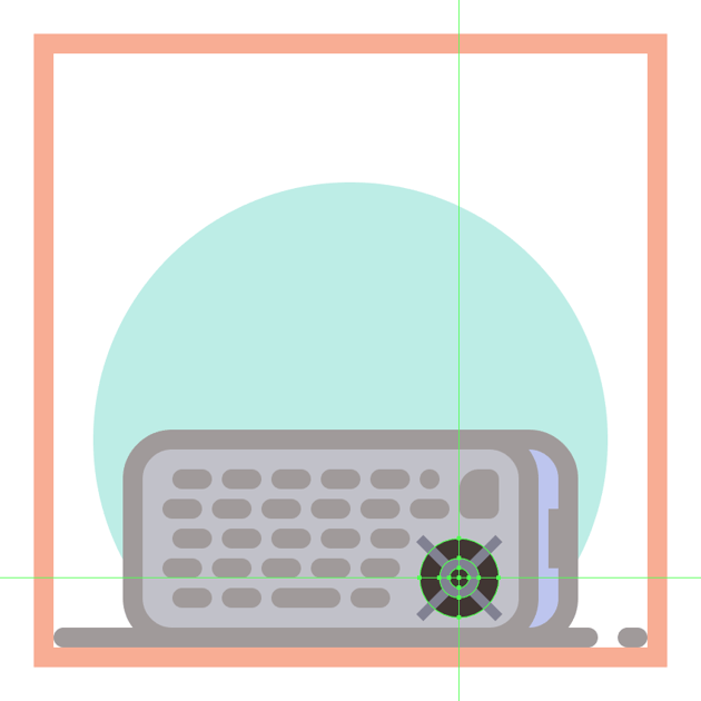 adding the center section to the second phones d-pad