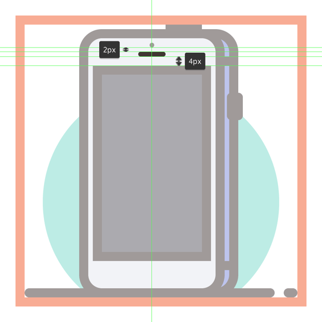 adding the earpiece insertion to the third phones front section