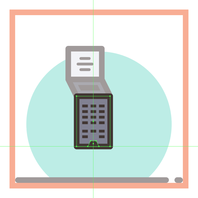 adding the small insertion to the bottom of the first phones dial section