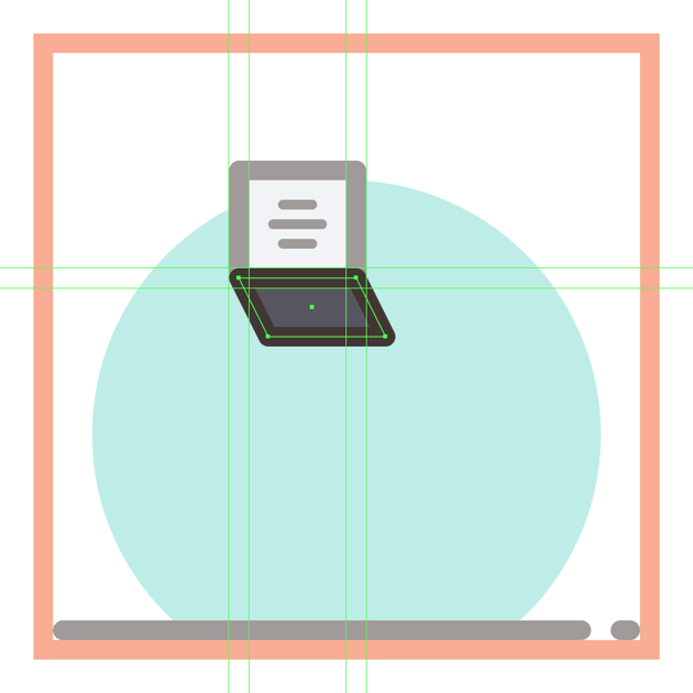 adding the outline to the first phones screen section