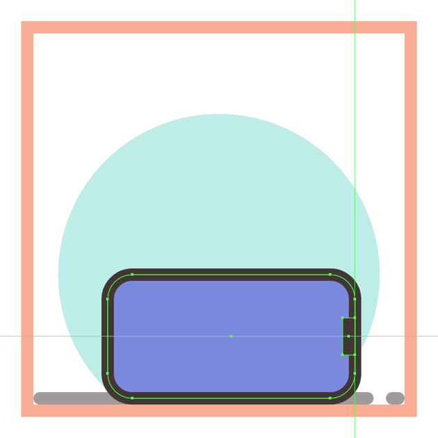adding the rectangular insertion to the side section of the second phones bottom half