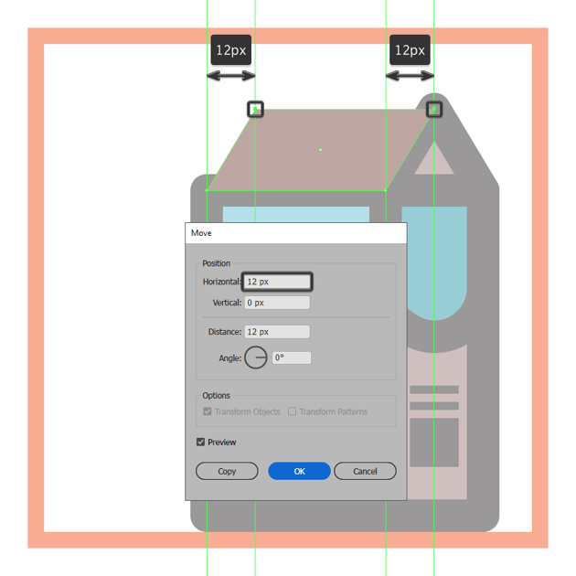 adjusting the shape of the front section of the milk boxs upper body