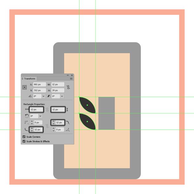 adjusting the shape of the grain symbols left squares