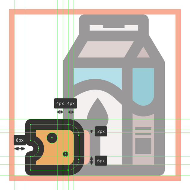 finishing off the dairy icon