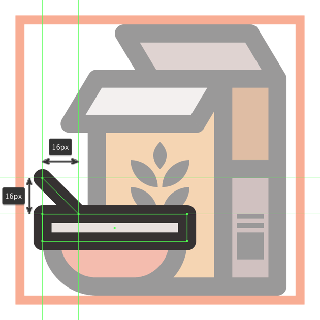 finishing off the grains icon