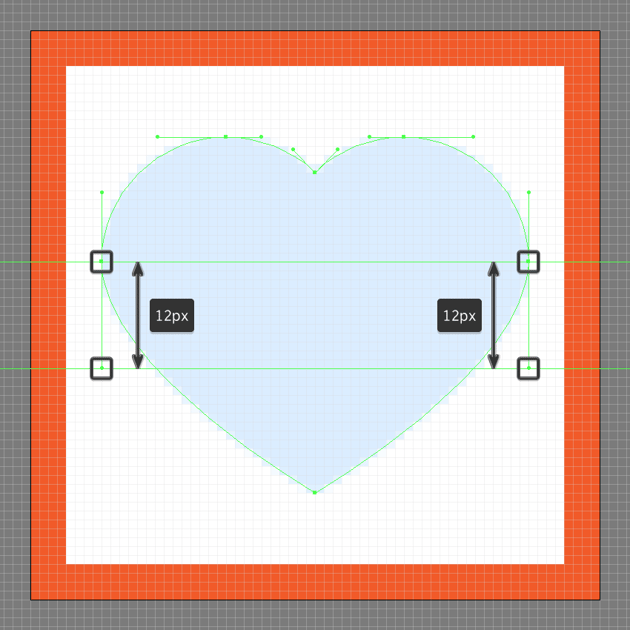 adjusting the shape of the like buttons lower body