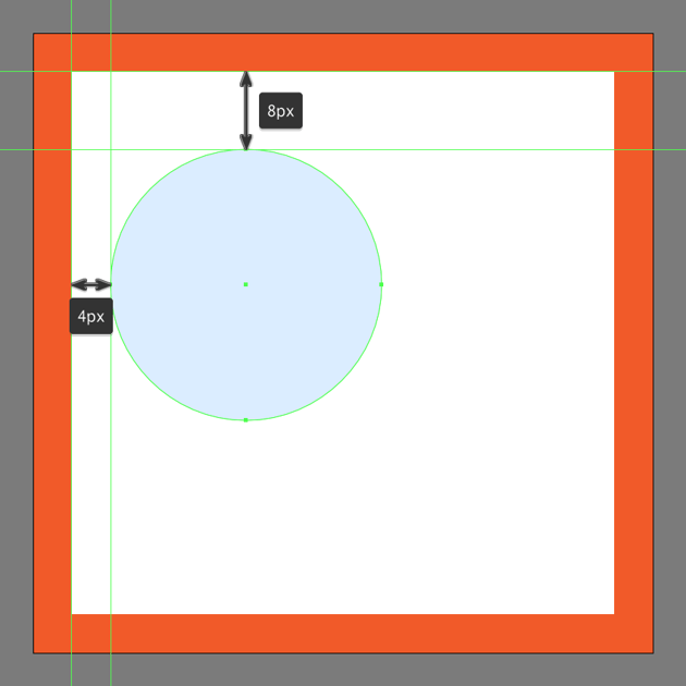 creating and positioning the main shape for the like buttons upper body