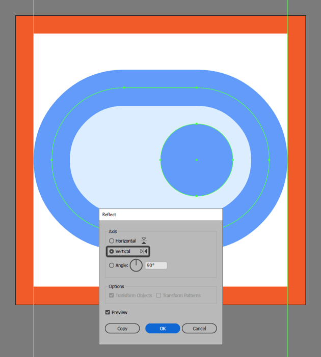 creating the toggle on button