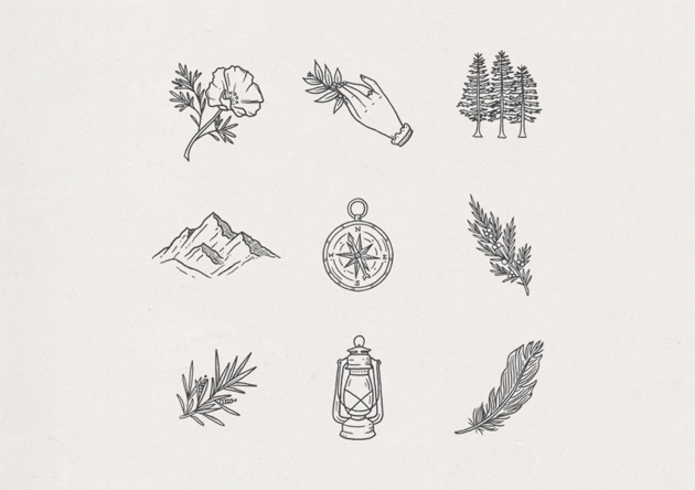 hand drawn icons by corrine alexandra