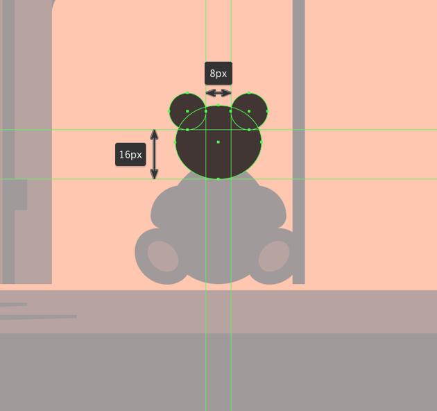 adding the teddy bears ears