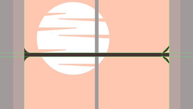 adjusting the shape of the horizontal grids outer rounded segments