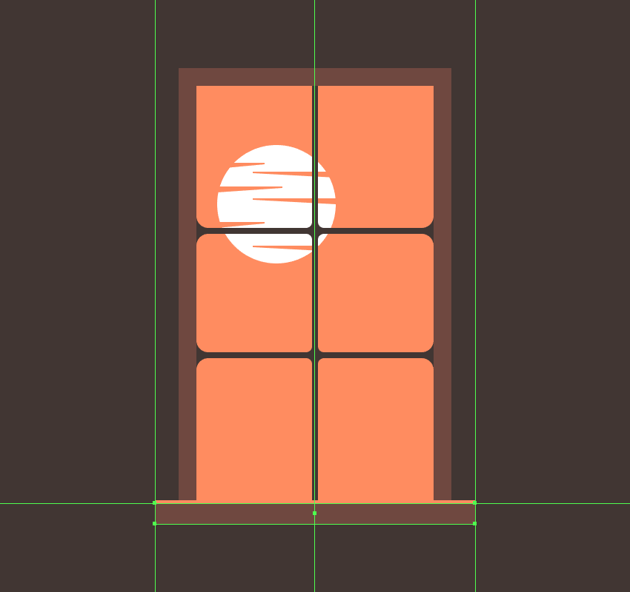 creating and positioning the main shape for the body of the windows sill