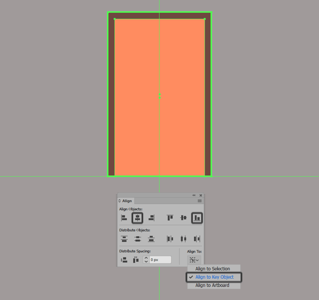 creating and positioning the main shape for the illustrations window section