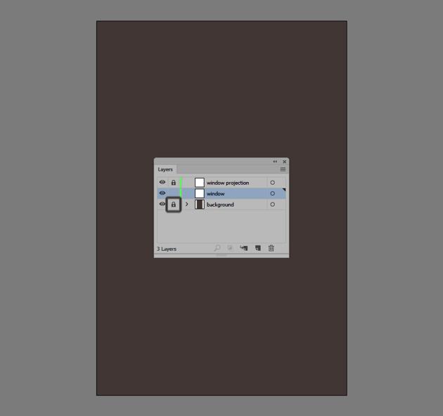 locking the illustrations background layer