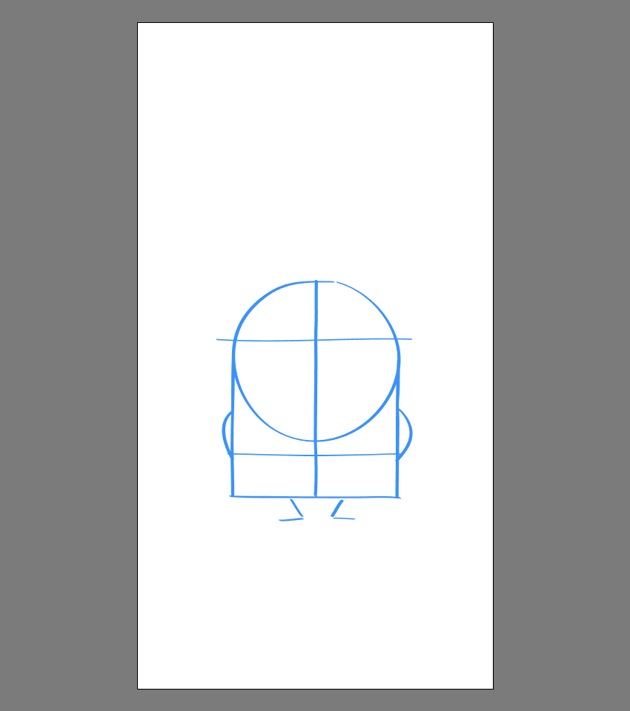 drawing the anatomic structure for Bob