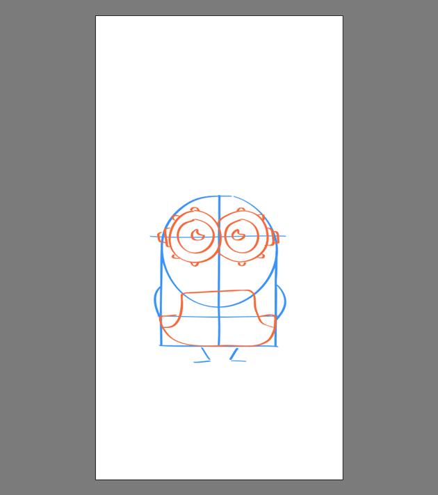 drawing the pants for Bob