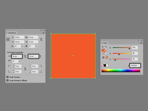 creating the main shape for the reference grid