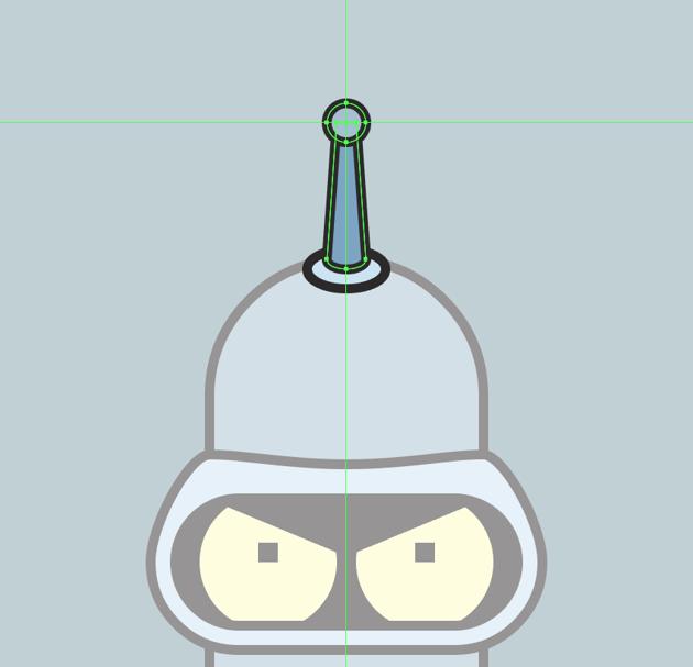 adding the round tip to the antenna