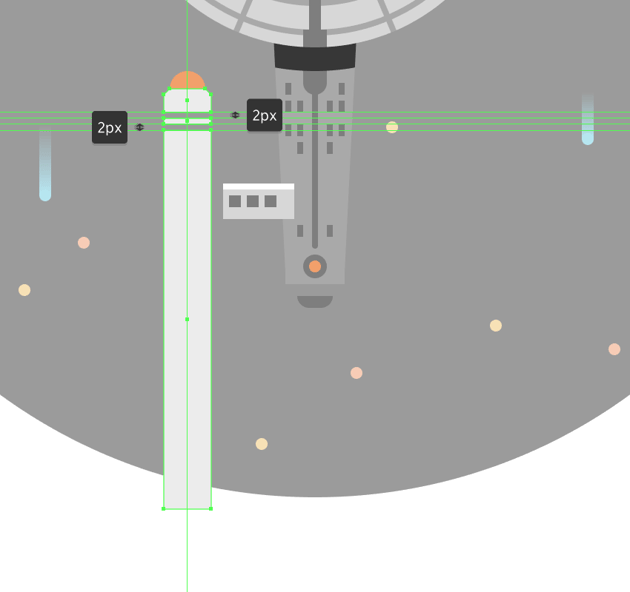 adding the smaller detail rectangle to the left warp drive