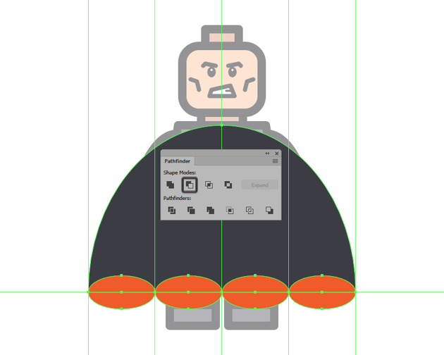 adjusting the shape of the cape