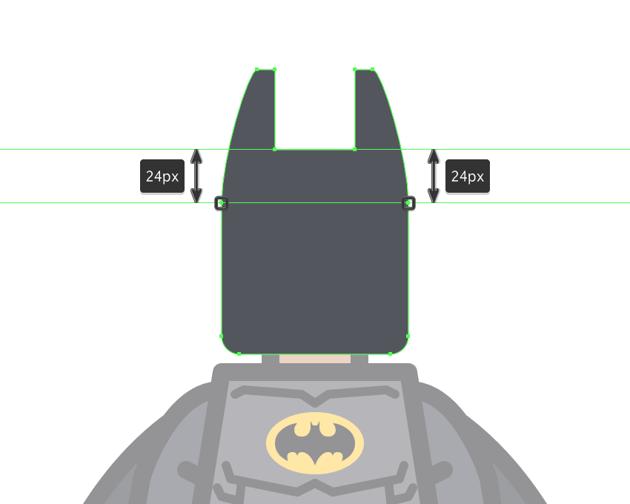 adjusting the shape of the mask