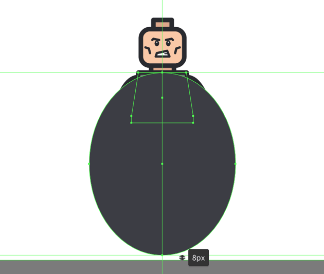 creating the main shape for the cape