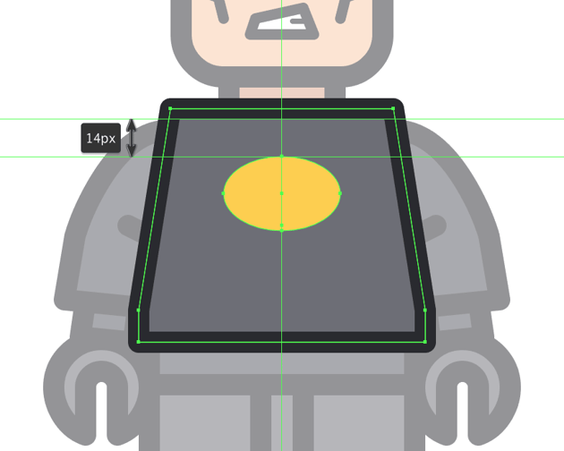 creating the main shape for the chest patch