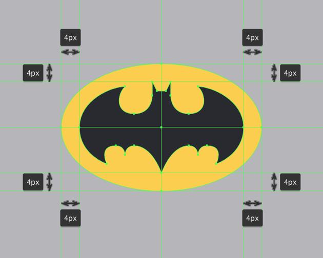 drawing the batman logo