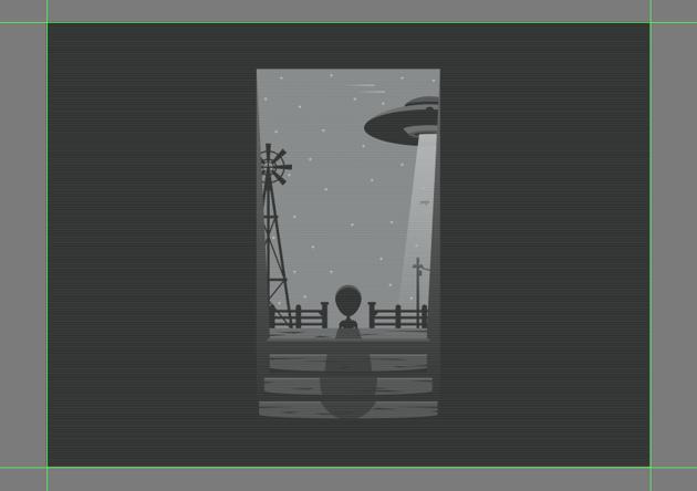 adding the horizontal texture lines