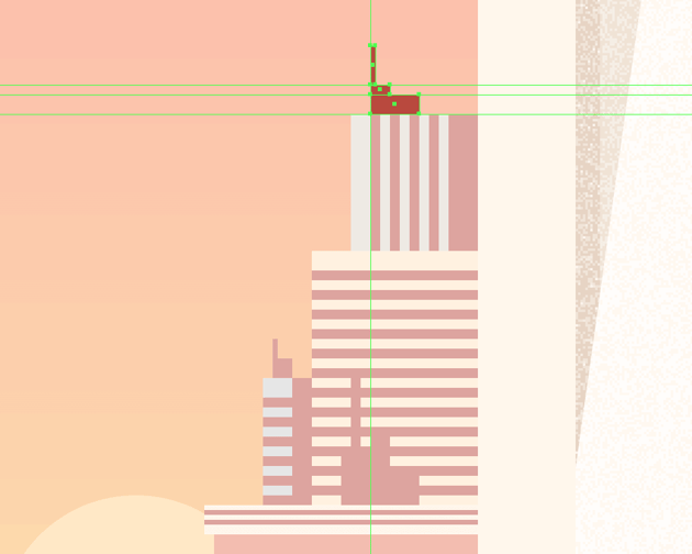 adding the antenna assembly to the top right-sided building