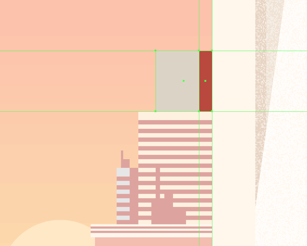 adding the shadow to the top right-sided building