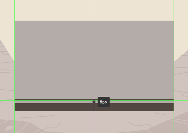 adding the bottom horizontal insertion segment