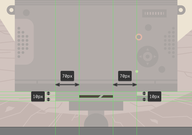 adding the dummy text line to the mounting plate