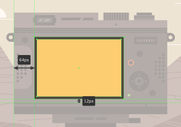 adding the screen to the body of the camera