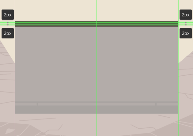 adding the horizontal detail lines to the upper section of the camera