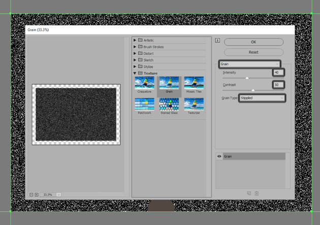 adjusting the textures settings
