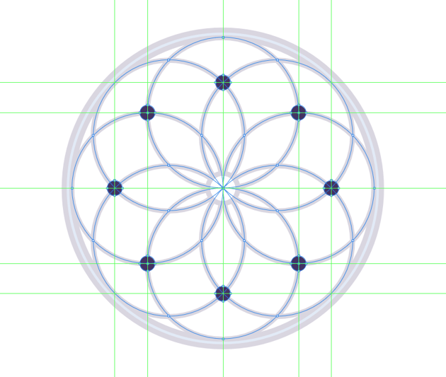 adding the nodes to the woven web