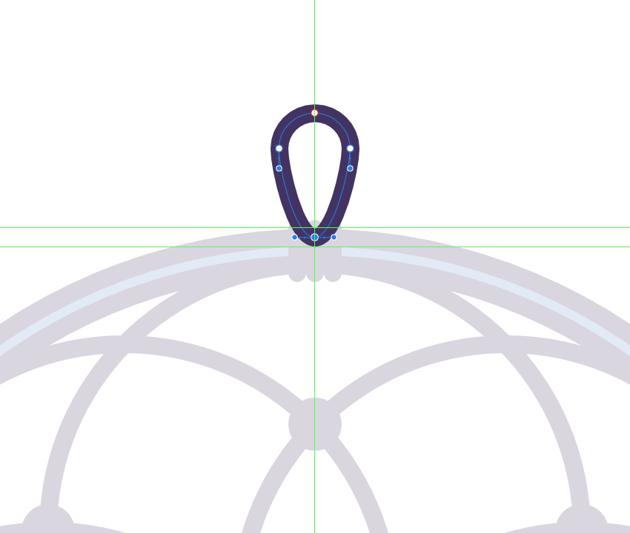 adjusting the shape of the hanging string