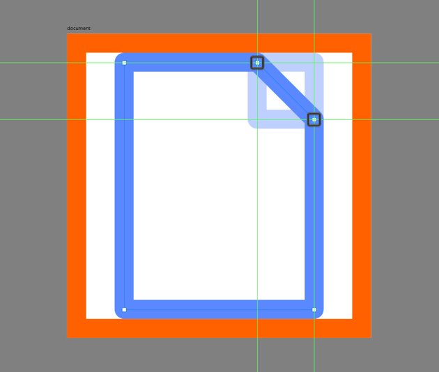 adjusting the shape of the document