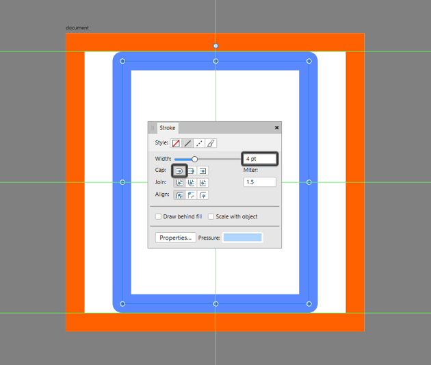 creating and positioning the main shape for the document icon